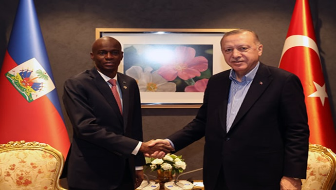 Cumhurbaşkanı Erdoğan, Haiti Cumhurbaşkanı Moise ile görüştü