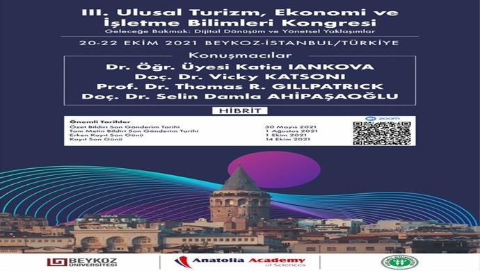Ekonomi, İşletmecilik ve Turizm alanlarında dijital dönüşüm bu kongrede konuşulacak